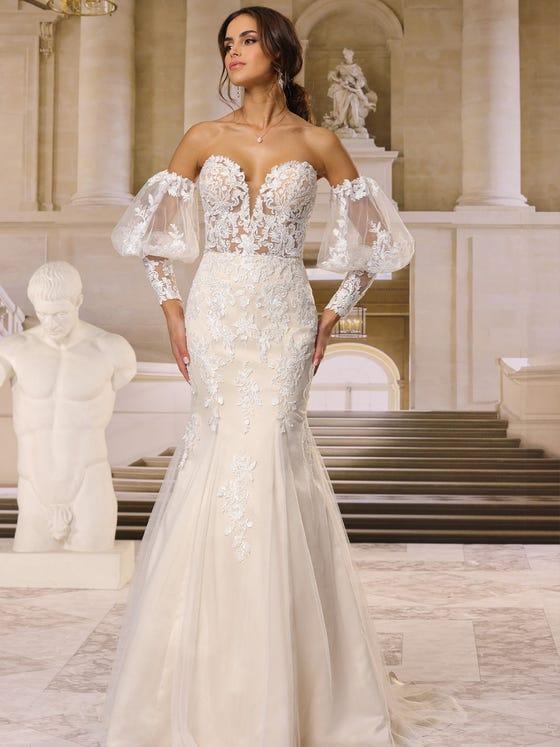 Vestido de novia sirena parte delantera