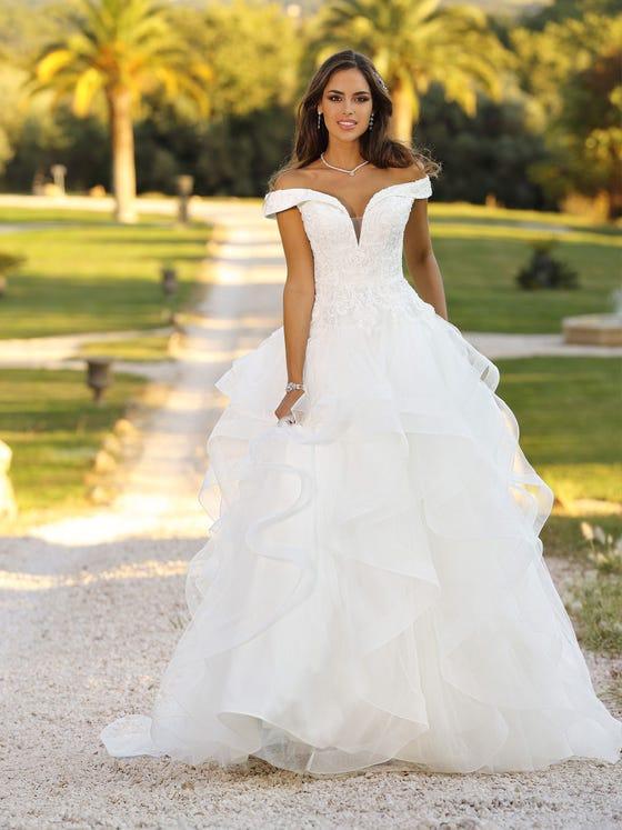 Vestido de novia princesa parte delantera