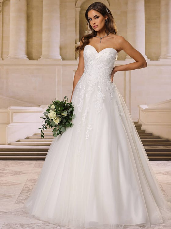 Vestido de novia corteena parte delantera