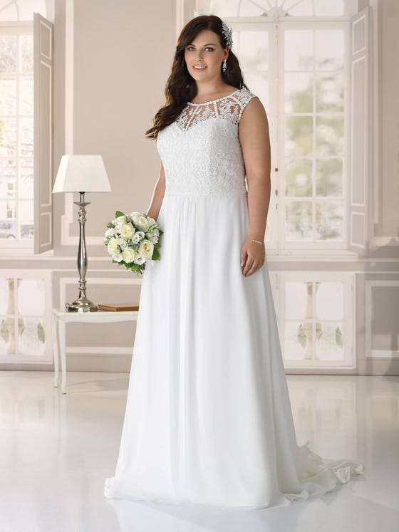 Wedding dress in size 46 or more? Ladybird Plussize collection - style LS421057