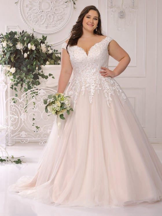 parte delantera vestido novia corteena escote pico espalda pico  ls422052